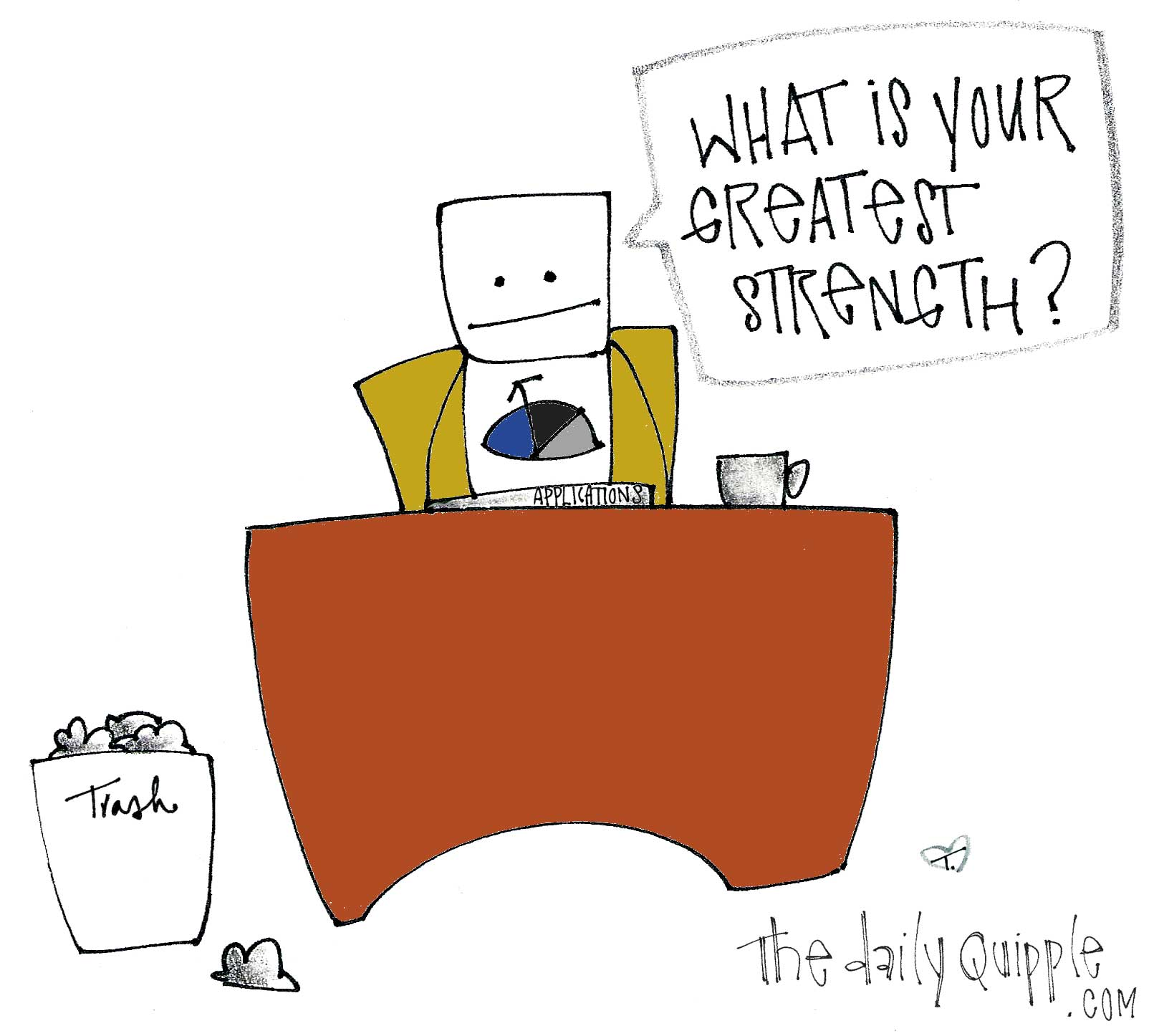 job application the daily quipple a robot asks what is your greatest strength