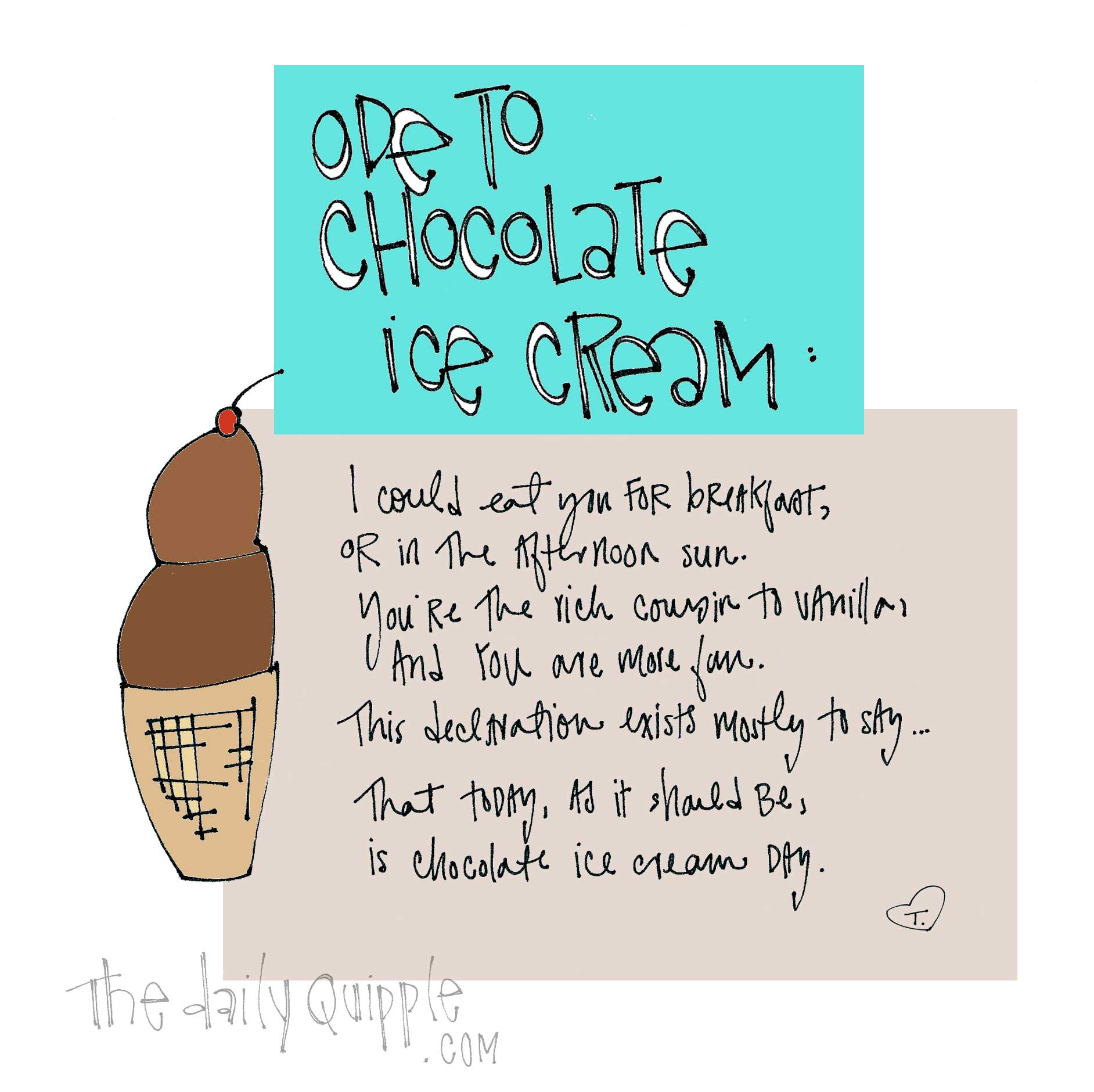 Ice Cream Poem | The Daily Quipple