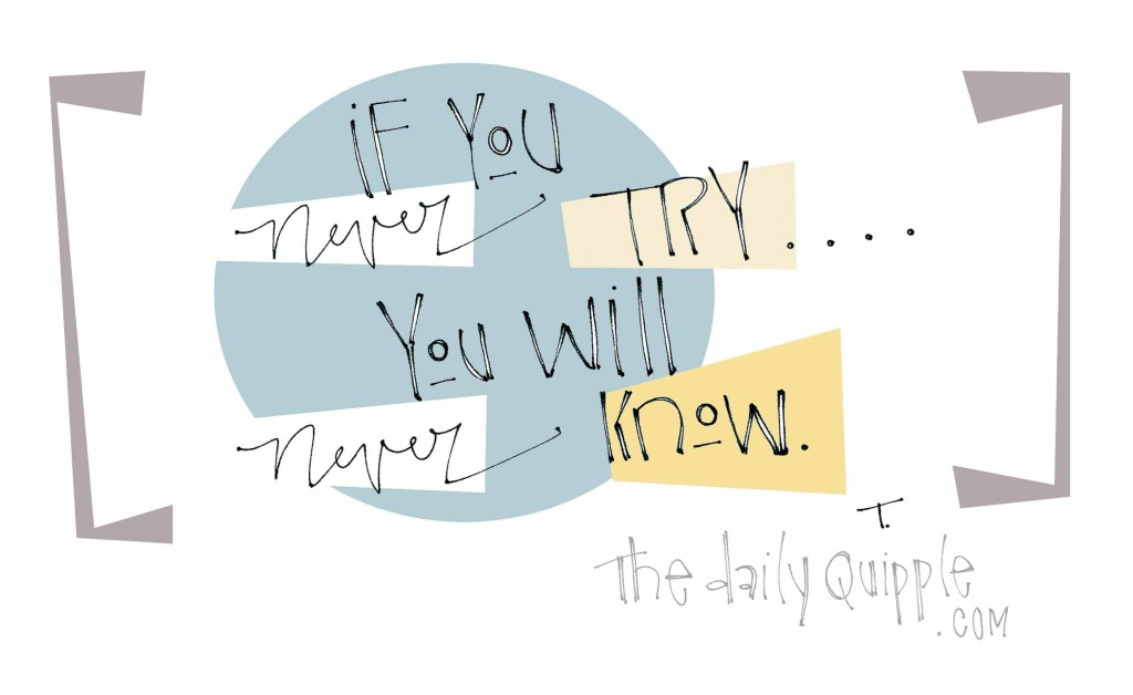 If you never try...you will never know.