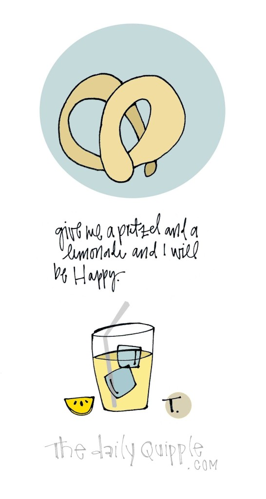 Give me a pretzel and a lemonade and I will be happy.