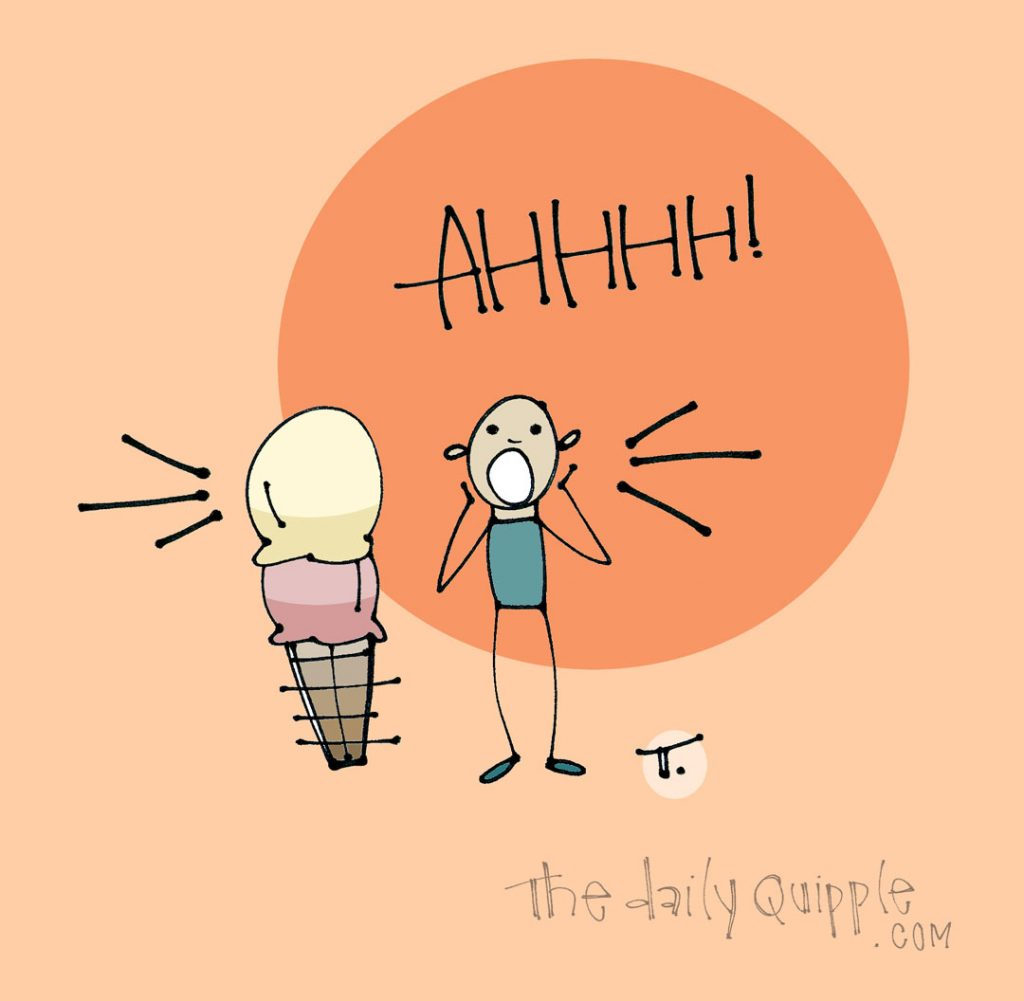 Just Screaming About Ice Cream | The Daily Quipple