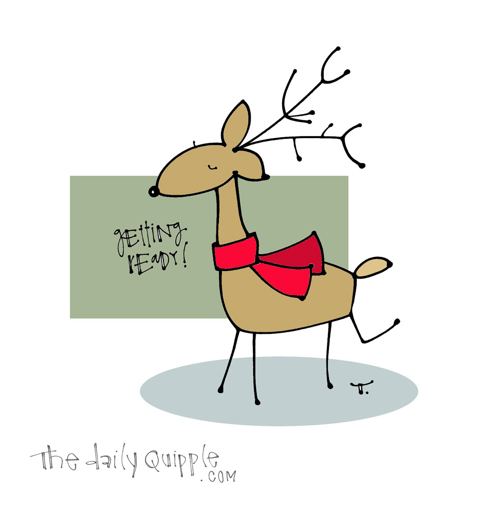 Gear Up Reindeer | The Daily Quipple