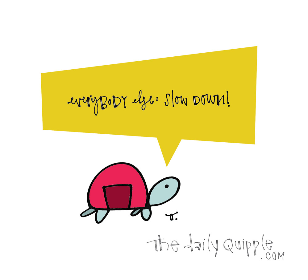 Slow Down Everybody | The Daily Quipple